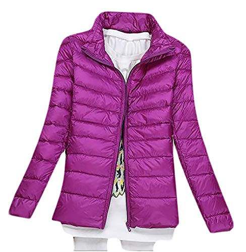 Packable Winter Puffer Stand Collar Down Parka Quilted TTYLLMAO Women's 10 Jacket Jacket wqtIRng