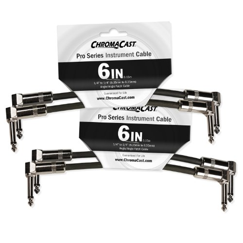 ChromaCast Pro Series Cables CC-PSCBLAA-05-4PK 6-Inch Pro Series Patch Cable 4-Pack