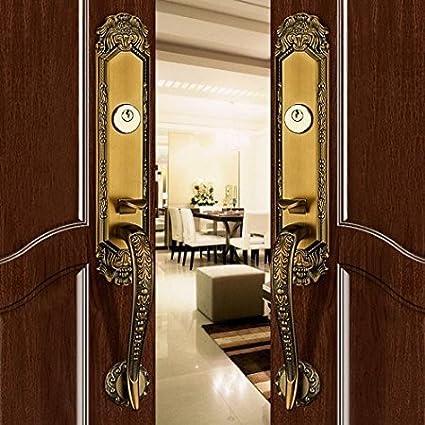 Merveilleux K6838 # Luxurious Mortise Lock Entry Entrance Front Door Handle Lockset (Double  Door, Brown
