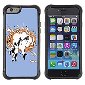 Hybrid Anti-Shock Defend Case for Apple iPhone 6 4.7 Inch / Shark & Gorilla High Five