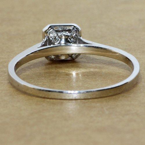 Gowe 0,27carat véritable diamant H/SI Diamant Bague de fiançailles en or blanc 18K pour femme