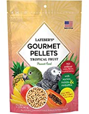 LAFEBER'S Premium Daily Diet or Gourmet Fruit Pellets Pet Bird Food, Made with Non-GMO and Human-Grade Ingredients, for Parrots