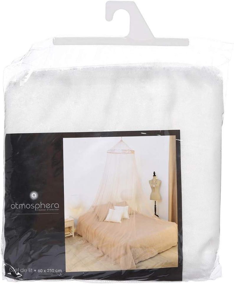 Coloris IVOIRE BLANC Ciel de lit et moustiquaire 60 X 250cm