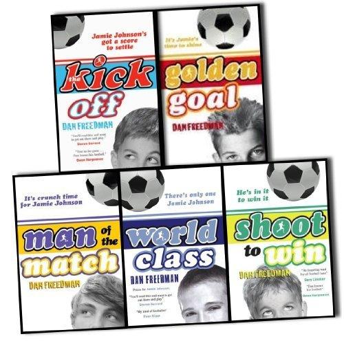 Dan Freedman Jamie Johnson Football Series 5 Books Collection Pack Set