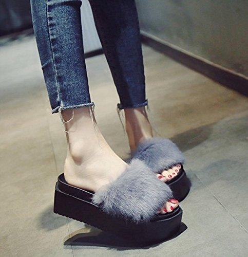 Avec Antidérapant Plage 5 Awxjx Étudiant Us Appartement Plat Femme Été Black 38 Gray Eu 7 5 Uk Chaussures Tongs Tl13JFuKc