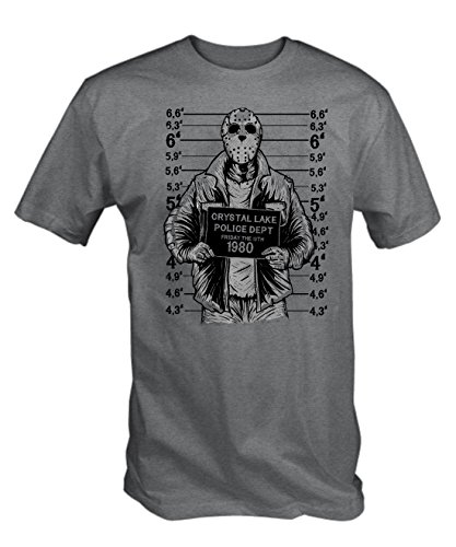 6TN Mens Jason Mugshot T Shirt (Large Grey)