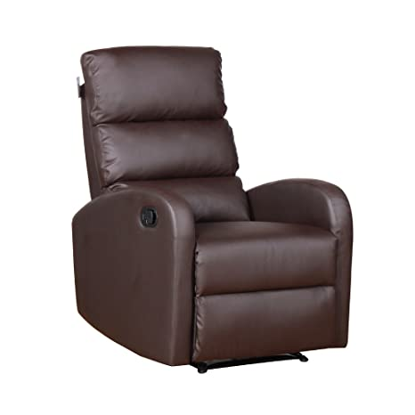 Bricobravo Sillón reclinable Acolchada 100% sintética marrón ...