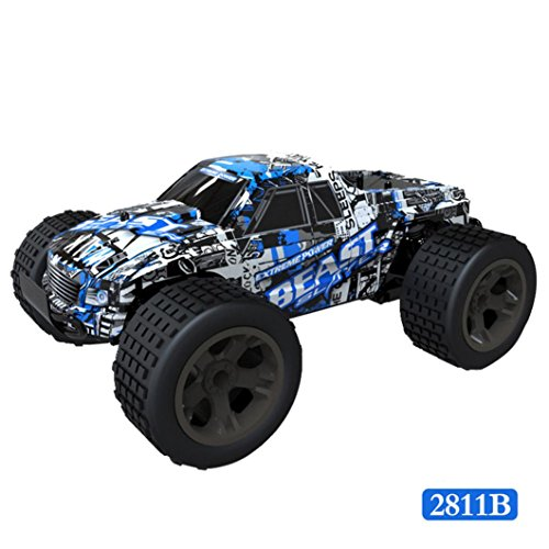 Kingspinner RC Car,1:20 2WD High Speed RC Racing Car 4WD Remote Control Truck Off-Road Buggy Toys (D)