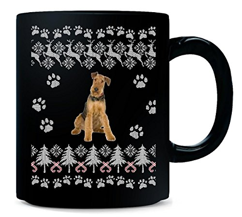 Airedale Terrier Mug (AIREDALE TERRIER Ugly Christmas Sweater - Mug)