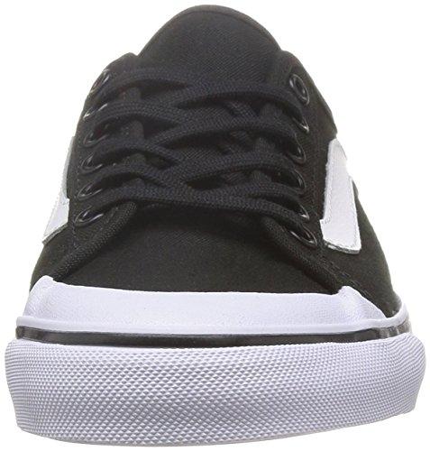 Vans Mens Svart Boll Sf Blac Låga Topp Snörning Mode Sneakers Svart / Vit