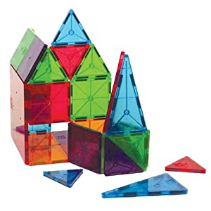 Magna-Tiles®, Magnetic 32 PC Clear Colors Tile Set - Item #02132
