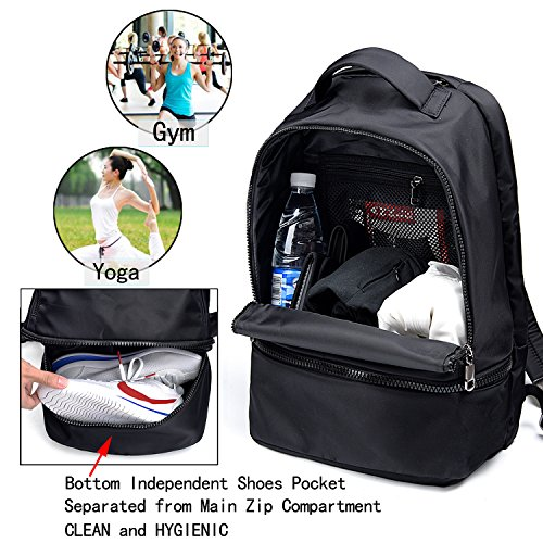 UTO Hiking Nylon Sport Backpack Fashion Straps Functional Reflective Gym Grey School Bag 3M RrSR1wq
