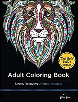 Amazon Com Adult Coloring Book Stress Relieving Animal Designs