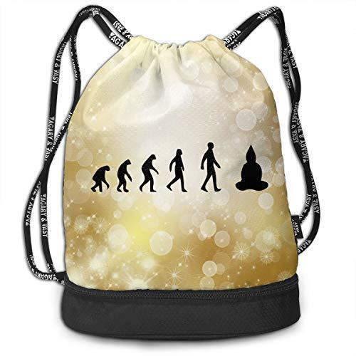 (Drawstring Backpack Evolution Meditation Buddha Rucksack)