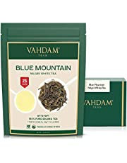 Exotic White Tea Leaves from The Blue Mountains (25 Cups) - World's HEALTHIEST Tea Type - 100% Certified Pure White Tea Loose Leaf - Mellow & Delicious, Rich in Powerful Anti-OXIDANTS, 1.76oz