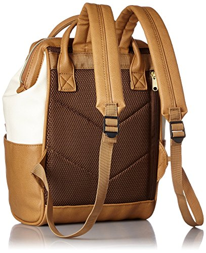 44db91bfbf Japan Anello Backpack Unisex IVORY x CAMEL MINI SMALL PU LEATHER Rucksack  Bag Campus