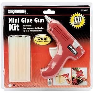 Dual Temperature Mini Glue Gun kit, Red