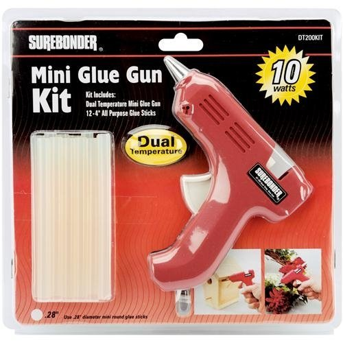 Surebonder DT-200KIT Mini Dual Temperature Glue Gun with 12 - 4-Inch All Purpose Glue Sticks Kit