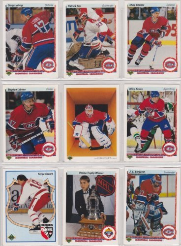 Montreal Canadiens 1990-91 Upper Deck Team Set w/ High Numbers (25 Cards) (Premier Upper Deck Hockey Issue) (Patrick Roy) (Chris Chelios)