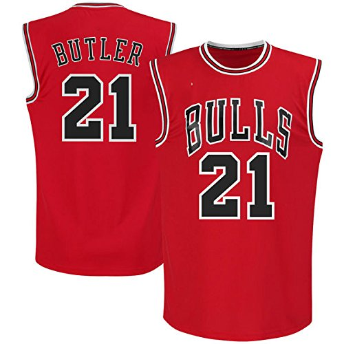 Mens Jimmy Butler #21 Basketball Jersey Red Road Jersey
