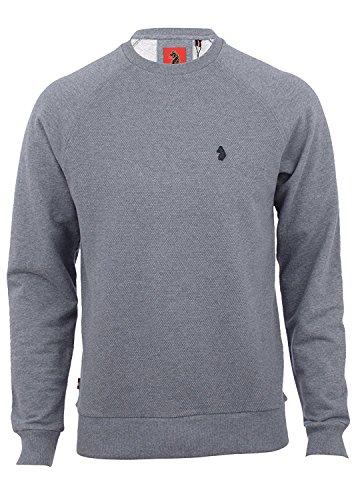 Luke 1977 Herren Sweatshirt grau Mid Mrl Grey