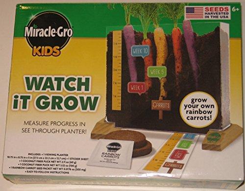 Miracle-Gro Kids Rainbow Carrots See Through (Watch It Grow)