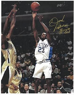 Signed Derek Anderson (Portland Trail Blazers) Photo - Kentucky Wildcats 8x10#23 gold sig) - Autographed College Photos