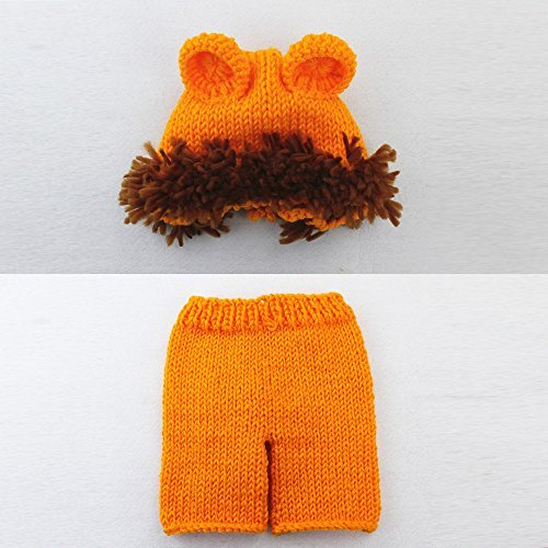 [Newborn Infant Baby Boy girl Photography Prop Costume Cute Cap Pants Baby Photo Props] (Lion Newborn Costumes)