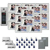 Building Video Intercom 17 7 inch door panel color monitor kit
