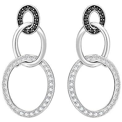6080a2fe240e Swarovski Women Stainless Steel Dangle   Drop Earrings - 5406126  Amazon.co. uk  Jewellery