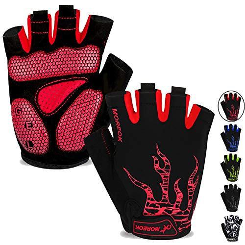 MOREOK Mens Cycling GlovesHalf