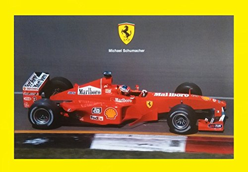 1999 FERRARI FORMULA 1 & MICHAEL SCHUMACHER VINTAGE OFFICIAL FACTORY COLOR CARD - 1480/99 ENGLISH/ITALIAN - AWESOME ORIGINAL CARD !!