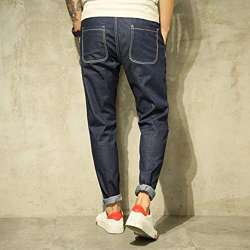 Da Usedlook Black Especial Leisure Denim In Regalar Hren Blau R Estilo Uomo Moda Stretch Fit Retrò Jeans Pantaloni Blue qY0fwxT5f