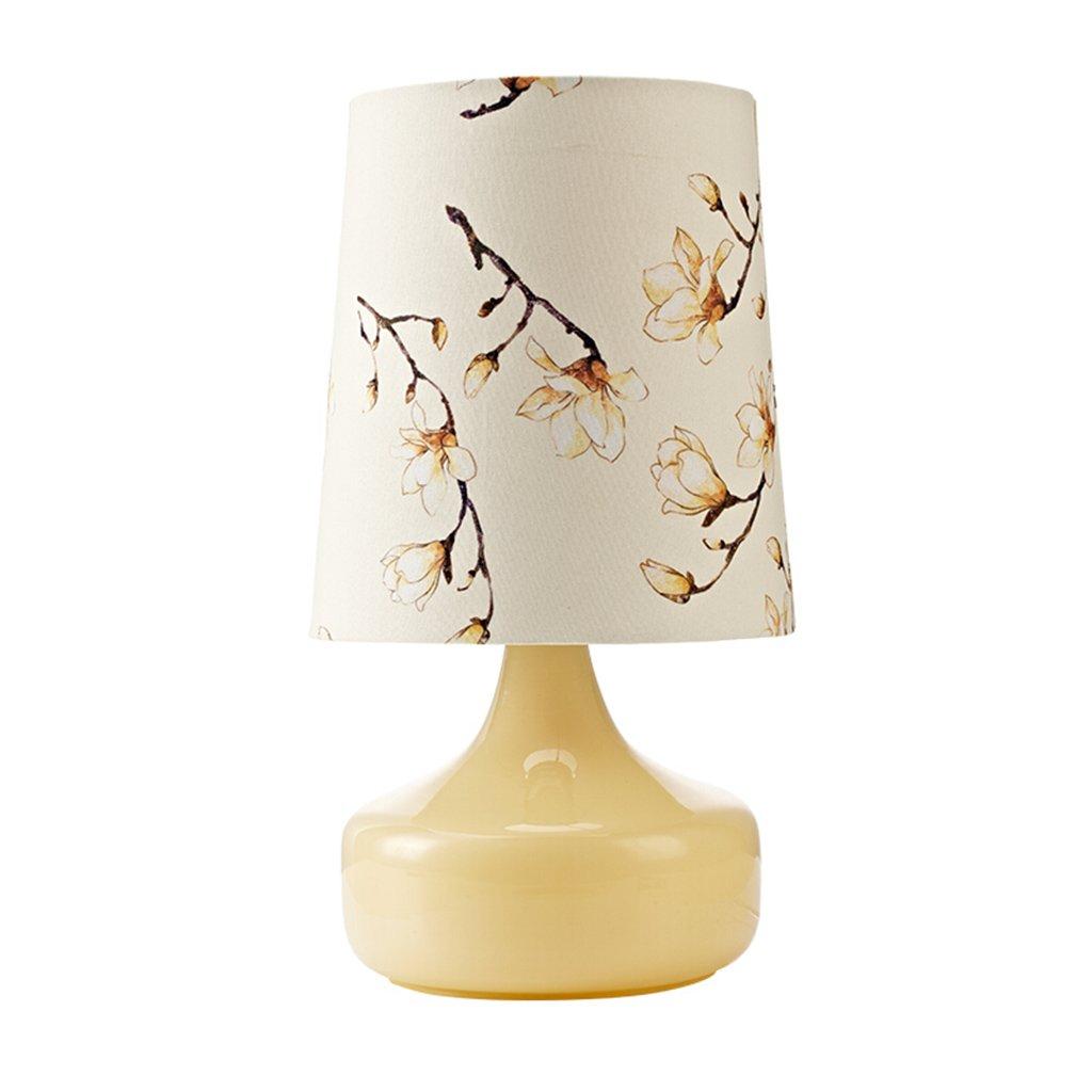 AJZGF Nordic creative lamp Nordic Lampe Wohnzimmer Schlafzimmer Nachttischlampe modernen Garten Glas warme dekorative Licht Taste Schalter E27 Table lamp (Farbe   Type B)