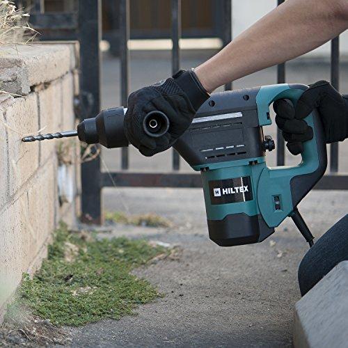Hiltex 10513 1-1/2 Inch SDS Hammer Drill | Includes Demolition Flat