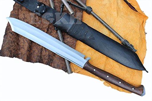 21'' Blade Mukti Freedom Machete, Full Tang Hand Forged Khukuri, Gurkha Kukri Knife EGKH Nepal Outdoor Blade - Handmade By Ex Gurkha Khukuri House by EGKH.