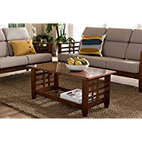 Baxton Studio Larissa Wood Coffee Table in Cherry