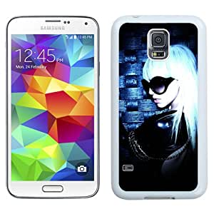 Beautiful Designed Cover Case With Lady Gaga Glasses Costume Hair Wall (2) For Samsung Galaxy S5 I9600 G900a G900v G900p G900t G900w Phone Case