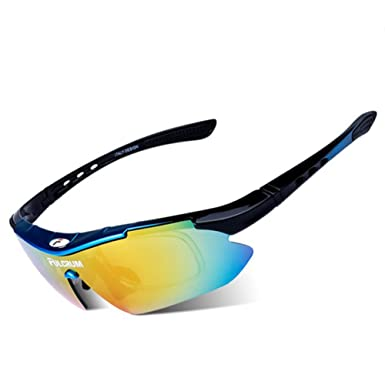 1156fa1fdc2 Amazon.com  MOVPE Polarized Sports Sunglasses with 6 Interchangeable ...