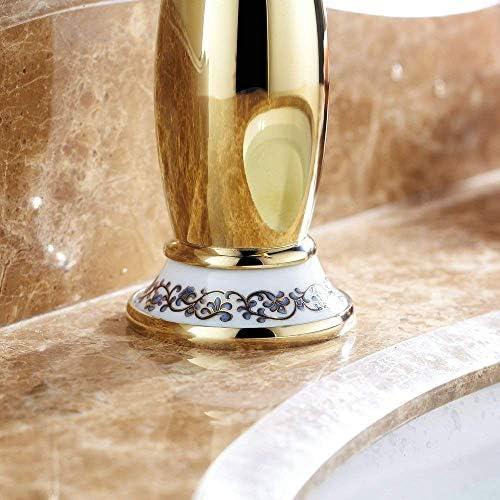 浴室の流しの蛇口ニッケルセラミック装飾的な洗面器の温水と冷水蛇口、やかん,D