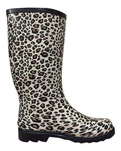 Psw Dames Mstkh Rubber Regenlaarzen Cheetah