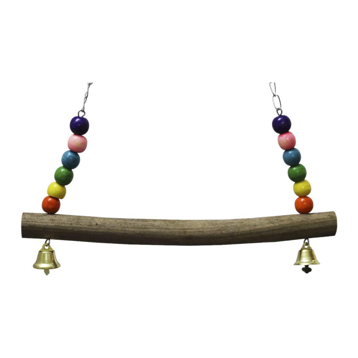 AKAMAS Parrot Trainning Chicken Swing Wooden Large Bird Parrot Trainning Colorful Chicken Toys For Hens Bird