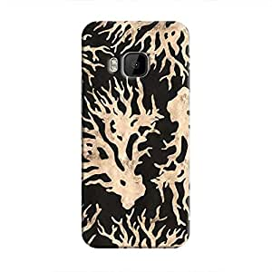 Cover It Up - Black Gold Nature Print One M9 Hard Case