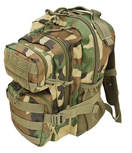 (Kids Woodland Camo Tactical Combat Backpack)