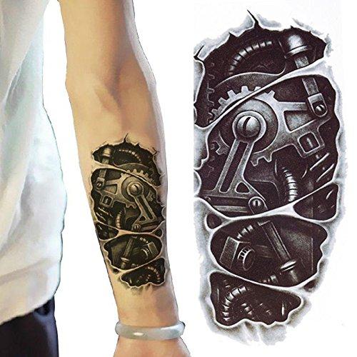 3d new man 39 s half sleeve arm temporary totem for Tattoo sleeves amazon