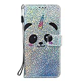 NEXCURIO Wallet Case for Huawei Y6 2018/Y6 Prime 2018 with Card Holder Side Pocket Kickstand, Shockproof Leather Flip Cover Case for Huawei Y6 2018/Honor 7A - NEYBO460264 N6