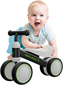 YGJT Baby Balance Bikes Bicycle Baby Walker Rides Toys for 1 Year Boys Girls 10 Months-24 Months Baby's First Bike First Birthday Gift Blue (Black)