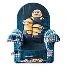Marshmallow Furniture, Children's Upholstered High Back Chair, Despicable Me Minions, by Spin Master