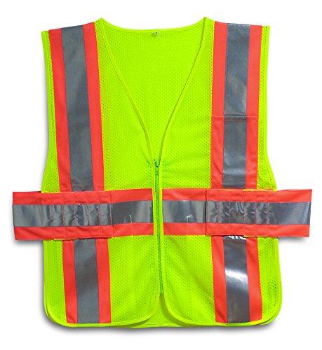 Galeton 8200352-4X5X-LI 8200352 Illuminator Class 2, Two-Tone Mesh Expandable SAFETY Vest, Lime, 4X/5X-Large ()