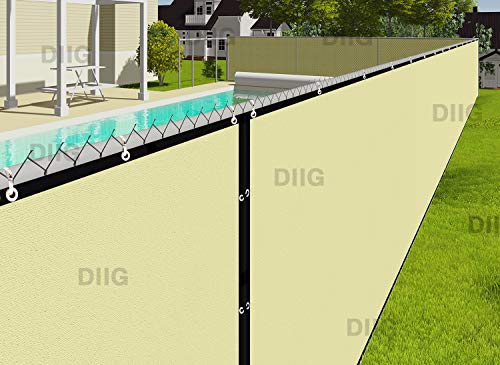 diig Fence Privacy Screen 6' x 50',Heavy Duty Mesh Fence Shade Net Windscreen Fabric for Outdoor Patio Backyard Deck 90% Visibility Blockage -3 Years Warranty